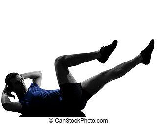workout, mann- trainieren