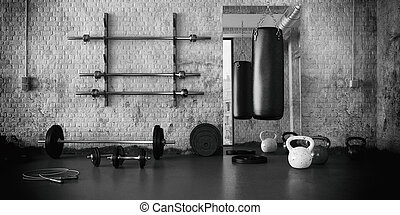 Workout Room with different Weight Lifting Equipment...