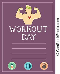 Workout Sheet Illustration