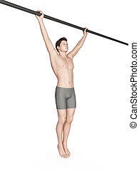 exercise illustration - wide grip pull ups