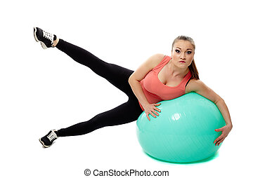 Workout with a gym ball