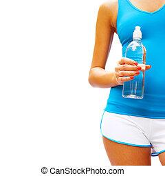Workout Woman On White - Workout woman on white, from a...