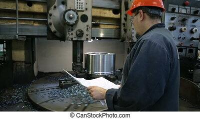 Workpiece processing on turning-and-boring lathe