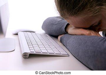 workplace., 壓力, 昏昏欲睡, 學生