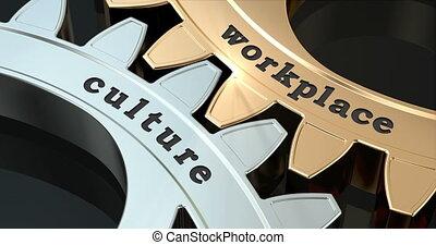 Workplace Culture gearwheels, 3D animation video