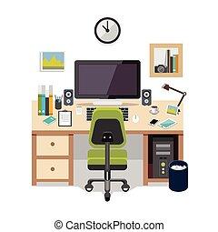 Workplace flat design.