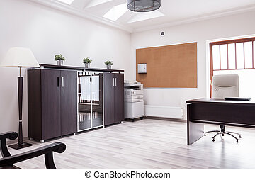 Workplace in luxury house
