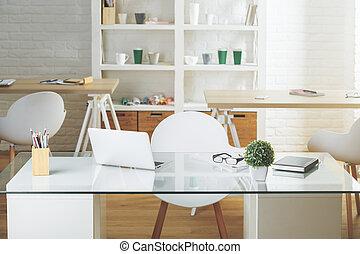 Workplace in modern interior