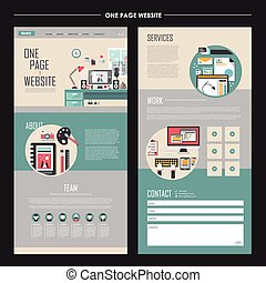 workplace one page website template design
