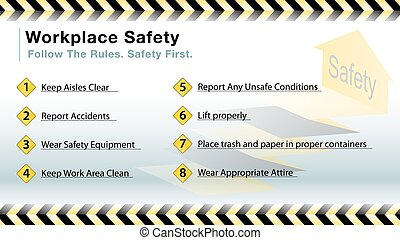 workplace safety slide - An image of a workplace safety...