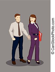 Workplace Sexual Harassment Vector Illustration - Cartoon...