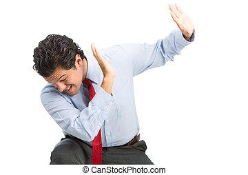 Workplace Verbal Physical Violence Hispanic Man