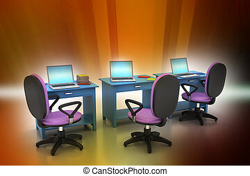 workplace with computer
