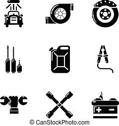 Workroom icons set, simple style - Workroom icons set. ...