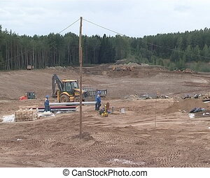 Works on construction industry site