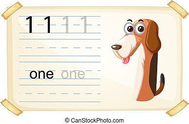 worksheet, εις , αριθμόs , σκύλοs