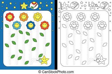 worksheet, 幼稚園