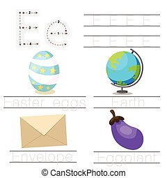 worksheet, childr, illustrator
