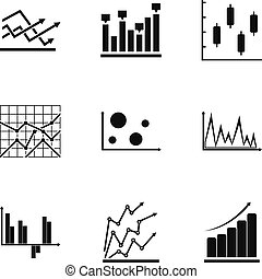 Worksheet icons set, simple style