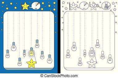 worksheet, preescolar