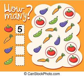 Worksheet template for how many illustration