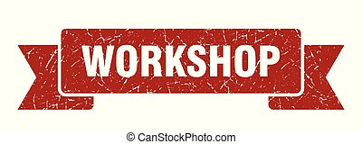 workshop grunge ribbon. workshop sign. workshop banner
