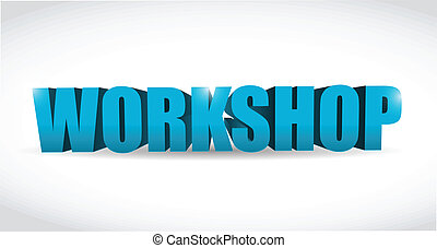 workshop illustration design over a white background