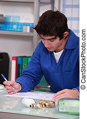 workshop, jonge man