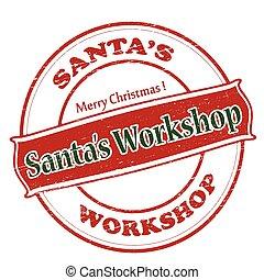 workshop, kerstman