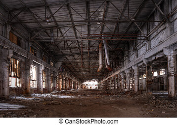 Workshop of abandoned factory, HDR