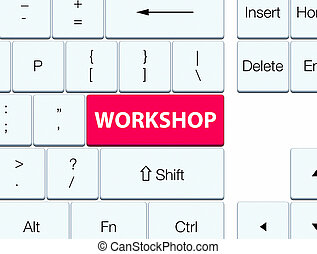 Workshop pink keyboard button