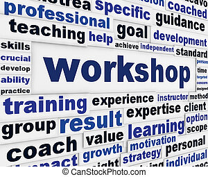 Workshop poster design. Professional seminar message...