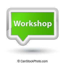 Workshop prime soft green banner button