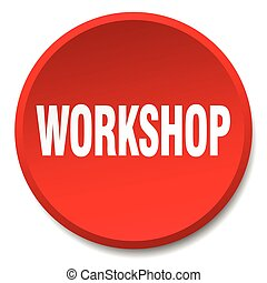 workshop red round flat isolated push button