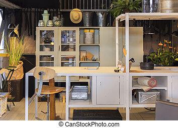 workshop space in garden house
