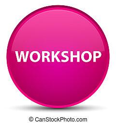 Workshop special pink round button