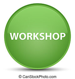 Workshop special soft green round button