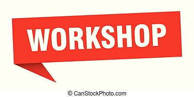 workshop speech bubble. workshop sign. workshop banner