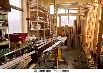 Workshop storage room.