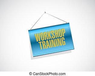 Workshop training banner sign concept