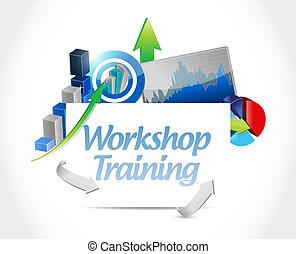 Workshop training business graph sign concept
