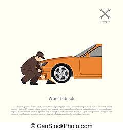 workshop., wheel., autó, kép, díszlet, szerelő, jármű, szolgáltatás, ék