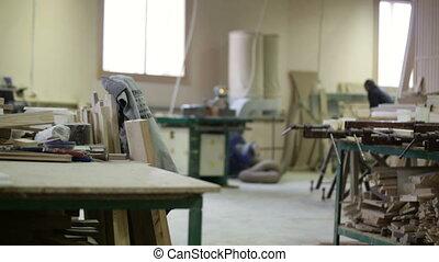 workshop wood factory tools table