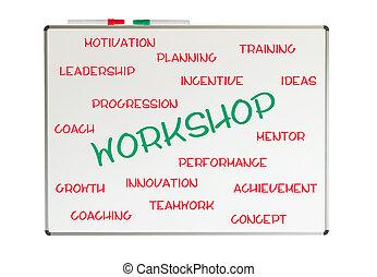 workshop, woord, wolk