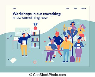Workshops In Coworking Page Design