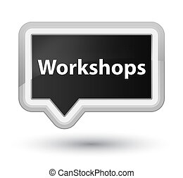 Workshops prime black banner button
