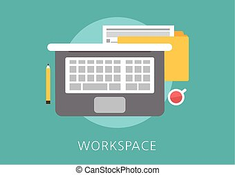 workspace concept flat icon