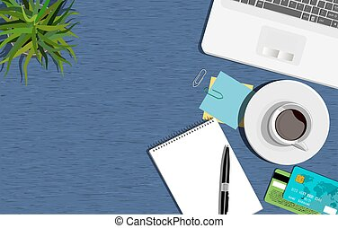 Workspace concept. Flat illustration. Business office.