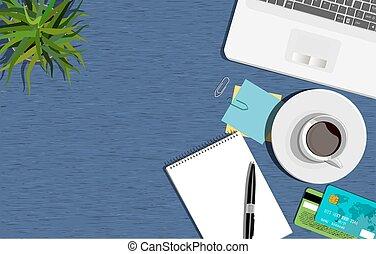 Workspace concept. Flat illustration. Business office.