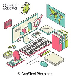 workspace concept vector.